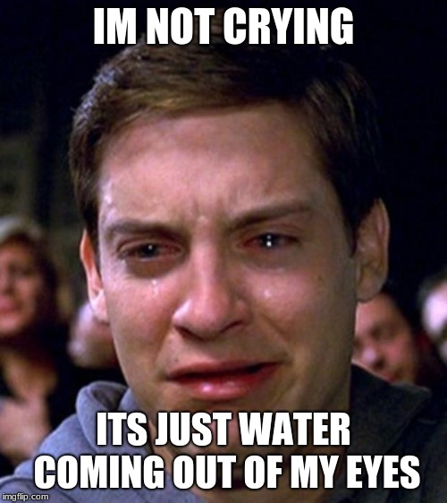 crying peter parker - Imgflip