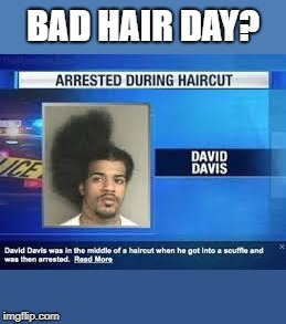 bad hair day | BAD HAIR DAY? | image tagged in bad hair day,funny,epic | made w/ Imgflip meme maker
