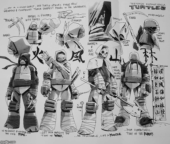 TMNT concept art | image tagged in tmnt,teenage mutant ninja turtles,2012,art | made w/ Imgflip meme maker