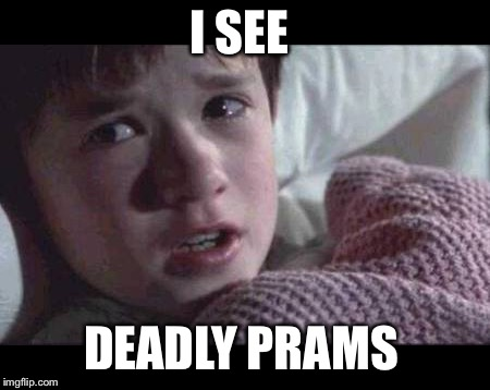 I See Dead People Meme | I SEE DEADLY PRAMS | image tagged in memes,i see dead people | made w/ Imgflip meme maker