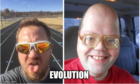 Mr. E is a meme now (Forehead) | EVOLUTION | image tagged in mr e,biology,forehead | made w/ Imgflip meme maker