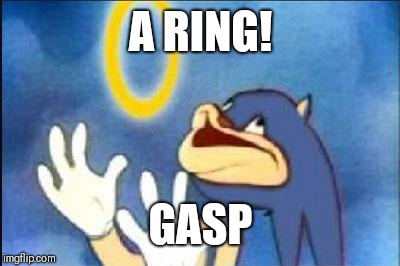 Sonic derp | A RING! GASP | image tagged in sonic derp | made w/ Imgflip meme maker