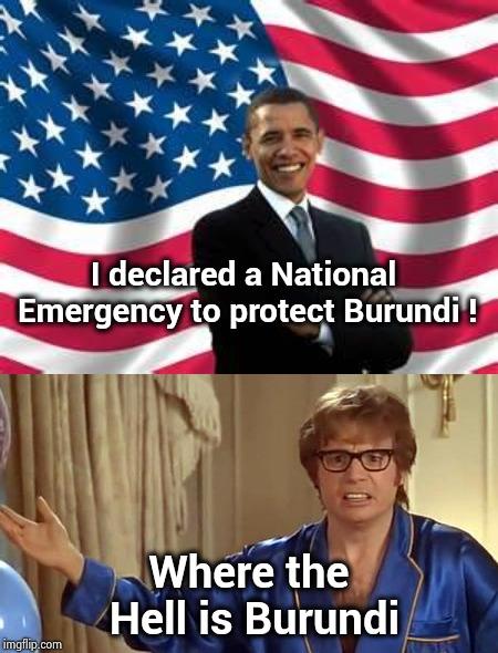"Talk about frivolous ""National Emergencies"" 