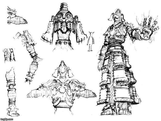 Shadow of the Colossus: Malus concept art from the art book | image tagged in shadow of the colossus,malus,concept art,16th colossus,video game | made w/ Imgflip meme maker