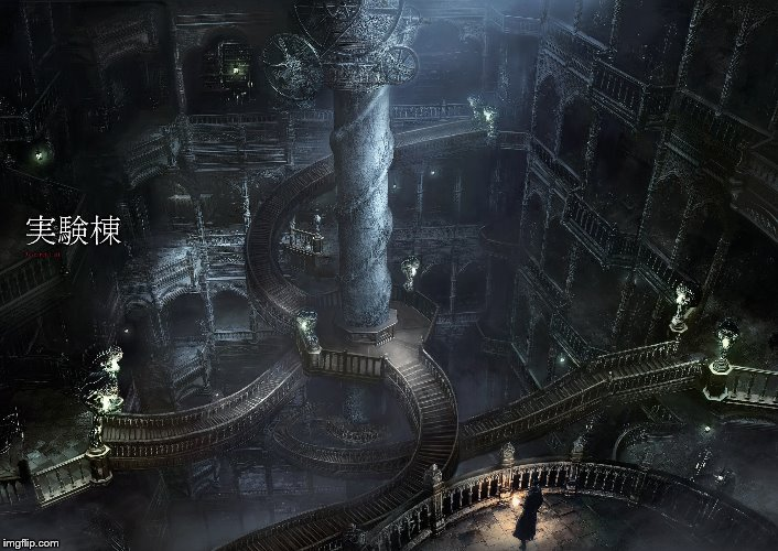 Bloodborne: Research Hall concept art | image tagged in bloodborne,concept art,video game | made w/ Imgflip meme maker
