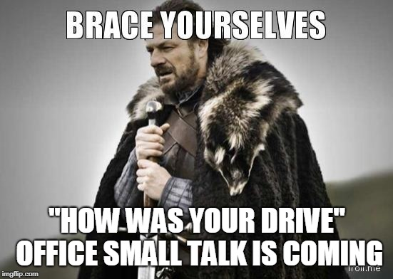 "Ohio Office Small Talk | ""HOW WAS YOUR DRIVE"" OFFICE SMALL TALK IS COMING 