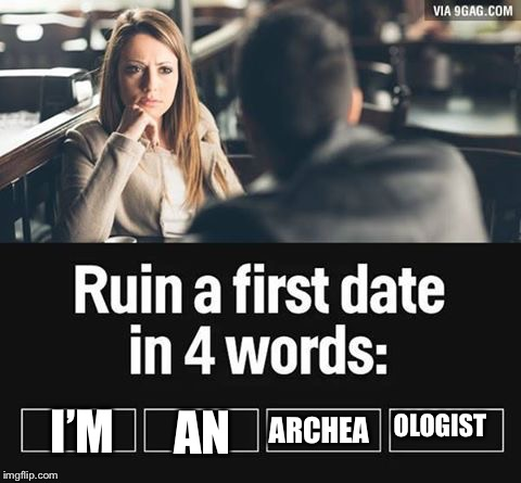 ruin first date | I'M AN ARCHEA OLOGIST | image tagged in ruin first date | made w/ Imgflip meme maker