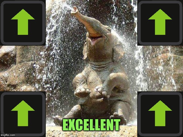 Upvote Elephant | EXCELLENT | image tagged in upvote elephant | made w/ Imgflip meme maker