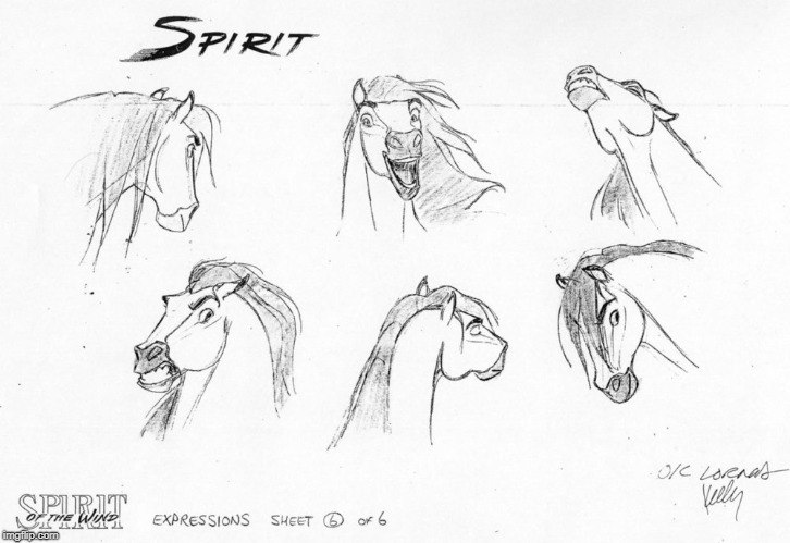 Character design for Spirit | image tagged in spirit,mustang,art,movie,horse | made w/ Imgflip meme maker
