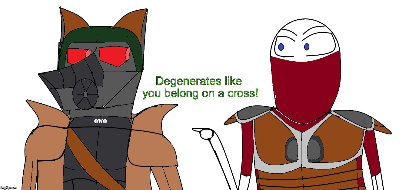 Degenerates like you belong on a cross! | image tagged in memes,furry,fallout new vegas,degenerates like you,caesar | made w/ Imgflip meme maker