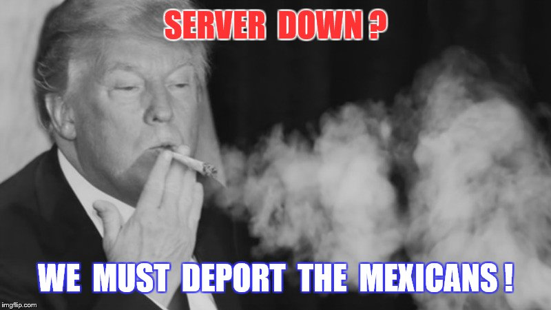 SERVER  DOWN ? WE  MUST  DEPORT  THE  MEXICANS ! | made w/ Imgflip meme maker