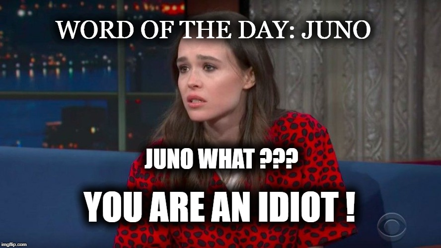 JUNO WHAT ???? | WORD OF THE DAY: JUNO YOU ARE AN IDIOT ! JUNO WHAT ??? | image tagged in racism,stupid,party of hate,liar,jussie smollett | made w/ Imgflip meme maker