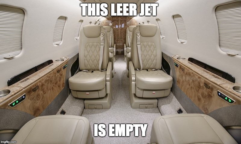 THIS LEER JET; IS EMPTY | made w/ Imgflip meme maker