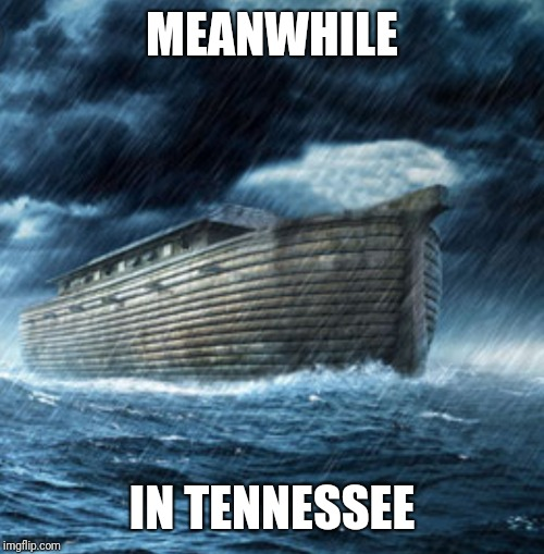The rain can stop anytime now, thanks | MEANWHILE IN TENNESSEE | image tagged in flood,tennessee,noah's ark | made w/ Imgflip meme maker