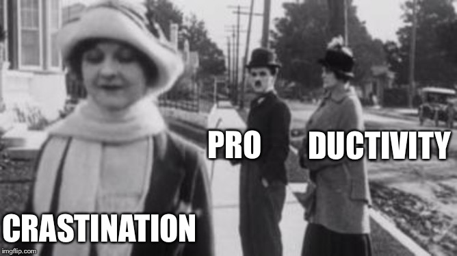 The original distracted boyfriend | PRO CRASTINATION DUCTIVITY | image tagged in distracted boyfriend,procrastination | made w/ Imgflip meme maker