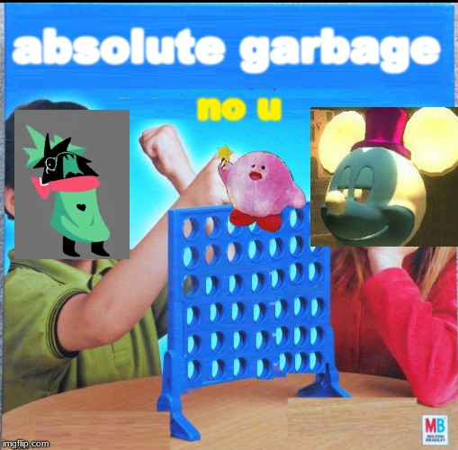 Blank Connect Four | absolute garbage no u | image tagged in blank connect four | made w/ Imgflip meme maker