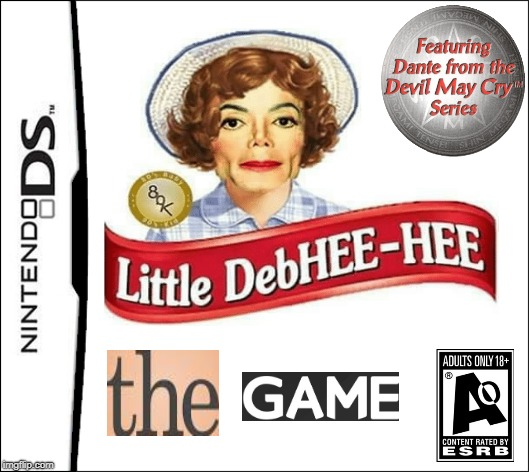 Little DebHEE-HEE The Game | image tagged in nintendo,michael jackson | made w/ Imgflip meme maker