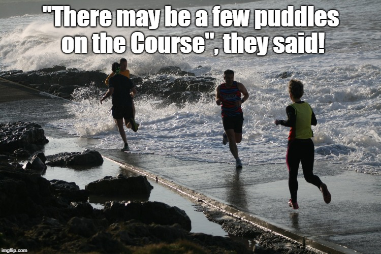 "parkrun puddles | ""There may be a few puddles on the Course"", they said! 