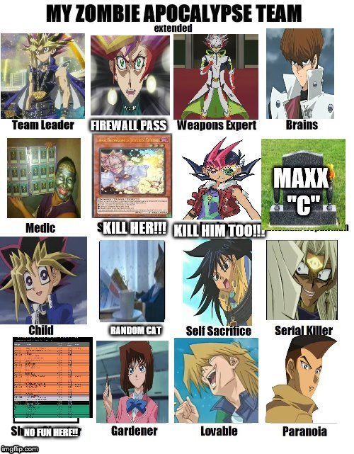 Best team ever (not counting yuma) | image tagged in yugioh,yugioh card draw,yugioh5d's,lol,zombie apocalypse team extended,my zombie apocalypse team | made w/ Imgflip meme maker