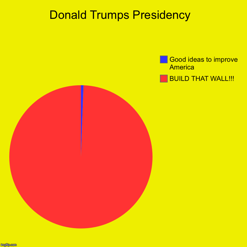Who will save America? | Donald Trumps Presidency  | BUILD THAT WALL!!!, Good ideas to improve America | image tagged in charts,pie charts | made w/ Imgflip chart maker
