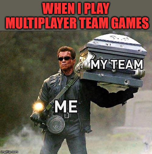 I like to think I am that good | WHEN I PLAY MULTIPLAYER TEAM GAMES | image tagged in meme,gaming,team,gamer,funny | made w/ Imgflip meme maker