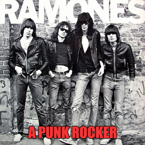 Ramones | A PUNK ROCKER | image tagged in ramones | made w/ Imgflip meme maker