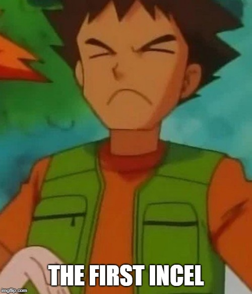 The First Real Incel in History | THE FIRST INCEL | image tagged in funny,pokemon,brock | made w/ Imgflip meme maker