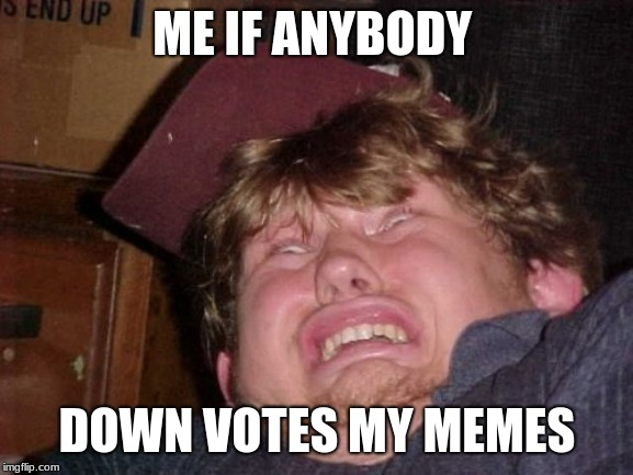 Don't Down vote, Up vote instead |  ME IF ANYBODY; DOWN VOTES MY MEMES | image tagged in memes,wtf,funny,funny memes,fun,downvotes | made w/ Imgflip meme maker