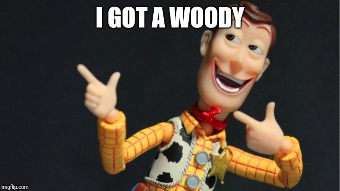 Morning Woody | I GOT A WOODY | image tagged in morning woody | made w/ Imgflip meme maker