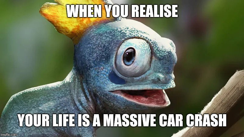 Sobble the millennial Pokémon | WHEN YOU REALISE YOUR LIFE IS A MASSIVE CAR CRASH | image tagged in pokemon,millennial,fear,anxiety | made w/ Imgflip meme maker
