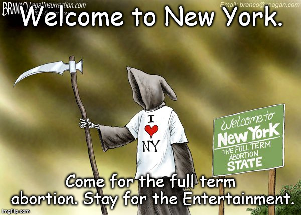 New York | Welcome to New York. Come for the full term abortion. Stay for the Entertainment. | image tagged in new york | made w/ Imgflip meme maker