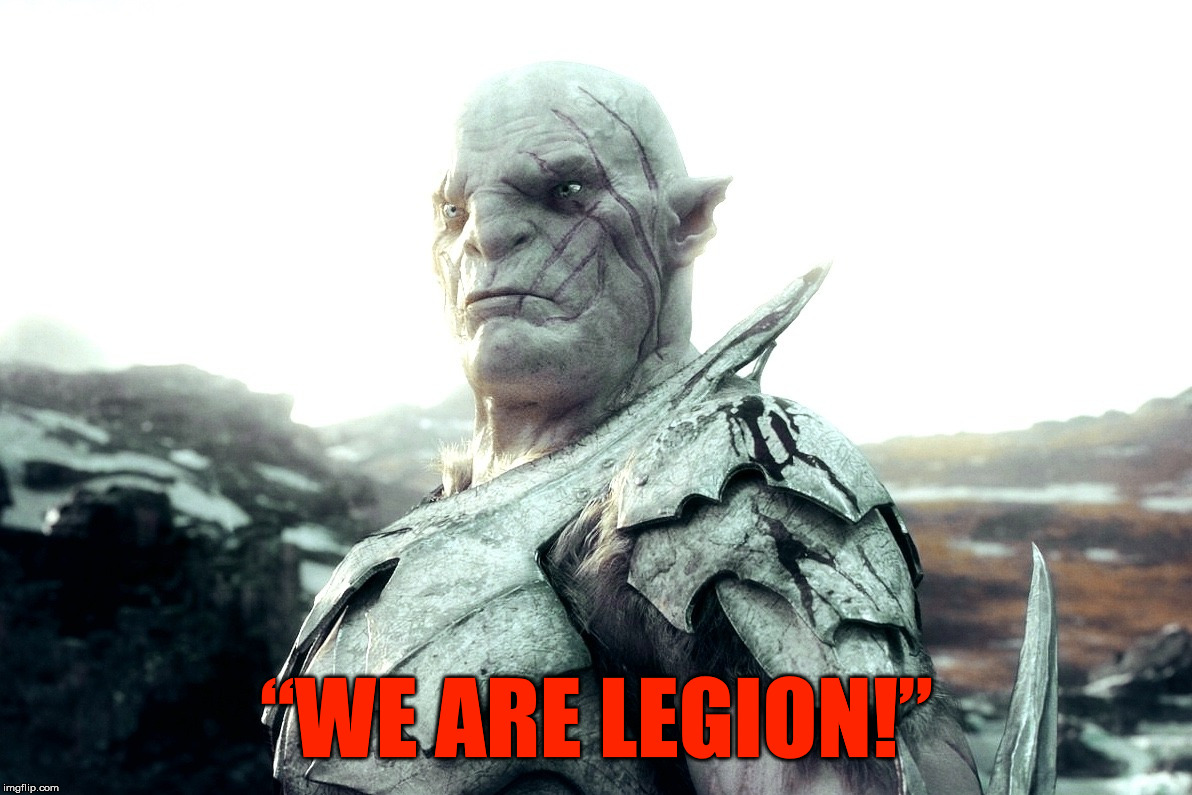 "There is only one Satan, but no shortage of idiotic wannabes. And worse yet, when they work as a collective into one mind. | ""WE ARE LEGION!"" 