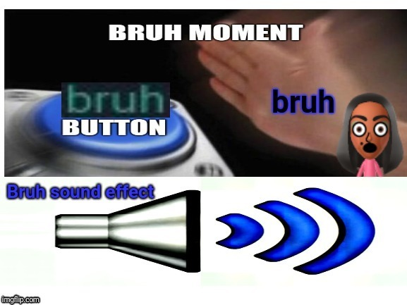bruh moment; bruh button; bruh; bruh sound effect | image tagged in blank nut button,blank white template,memes,bruh,bruhh,meme | made w/ Imgflip meme maker