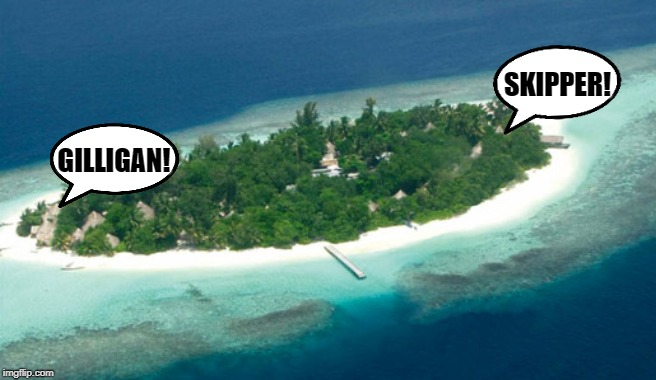 island | GILLIGAN! SKIPPER! | image tagged in island,funny,gilligan's island,yelling | made w/ Imgflip meme maker