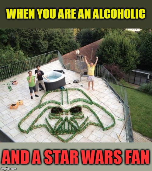 Darth Yuengling  | WHEN YOU ARE AN ALCOHOLIC AND A STAR WARS FAN | image tagged in beer bottles,beer,darth vader | made w/ Imgflip meme maker