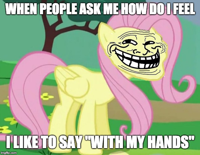 "The funny side of life! | WHEN PEOPLE ASK ME HOW DO I FEEL I LIKE TO SAY ""WITH MY HANDS"" 