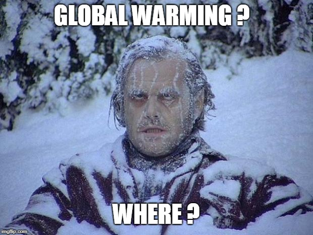 Jack Nicholson The Shining Snow | GLOBAL WARMING ? WHERE ? | image tagged in memes,jack nicholson the shining snow | made w/ Imgflip meme maker