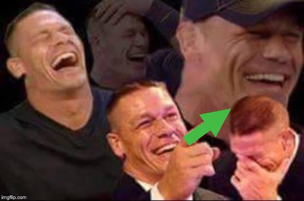 john cena laughing | image tagged in john cena laughing | made w/ Imgflip meme maker