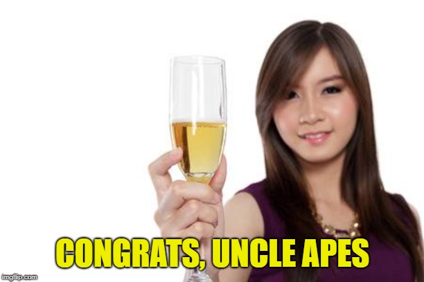 CONGRATS, UNCLE APES | made w/ Imgflip meme maker