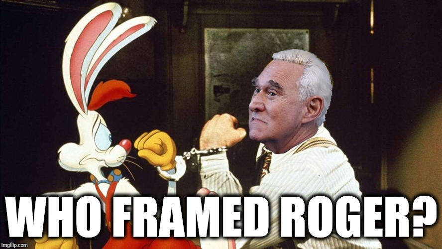 Gag me with a spoon |  WHO FRAMED ROGER? | image tagged in who framed roger rabbit,roger rabbit,roger stone,robert mueller,gag order | made w/ Imgflip meme maker