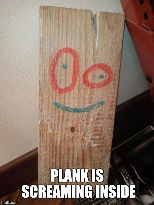 Real-life Plank Ed Edd & Eddy | PLANK IS SCREAMING INSIDE | image tagged in real-life plank ed edd  eddy | made w/ Imgflip meme maker