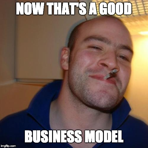 Good Guy Greg Meme | NOW THAT'S A GOOD BUSINESS MODEL | image tagged in memes,good guy greg | made w/ Imgflip meme maker