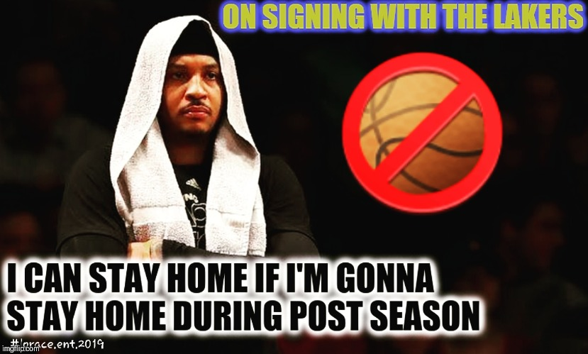 image tagged in nba memes,carmelo anthony,lebron james | made w/ Imgflip meme maker