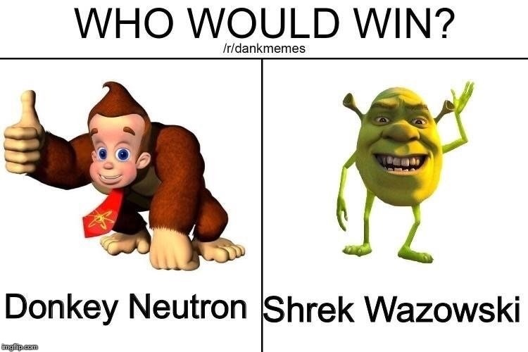 image tagged in memes,funny,jimmy neutron,shrek,mike wazowski,donkey | made w/ Imgflip meme maker