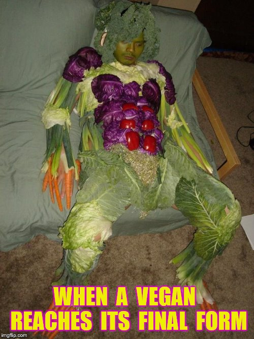 WHEN  A  VEGAN  REACHES  ITS  FINAL  FORM | made w/ Imgflip meme maker