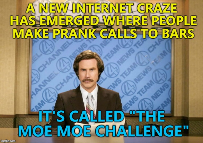 "It's actually been going for a while... :) | A NEW INTERNET CRAZE HAS EMERGED WHERE PEOPLE MAKE PRANK CALLS TO BARS IT'S CALLED ""THE MOE MOE CHALLENGE"" 