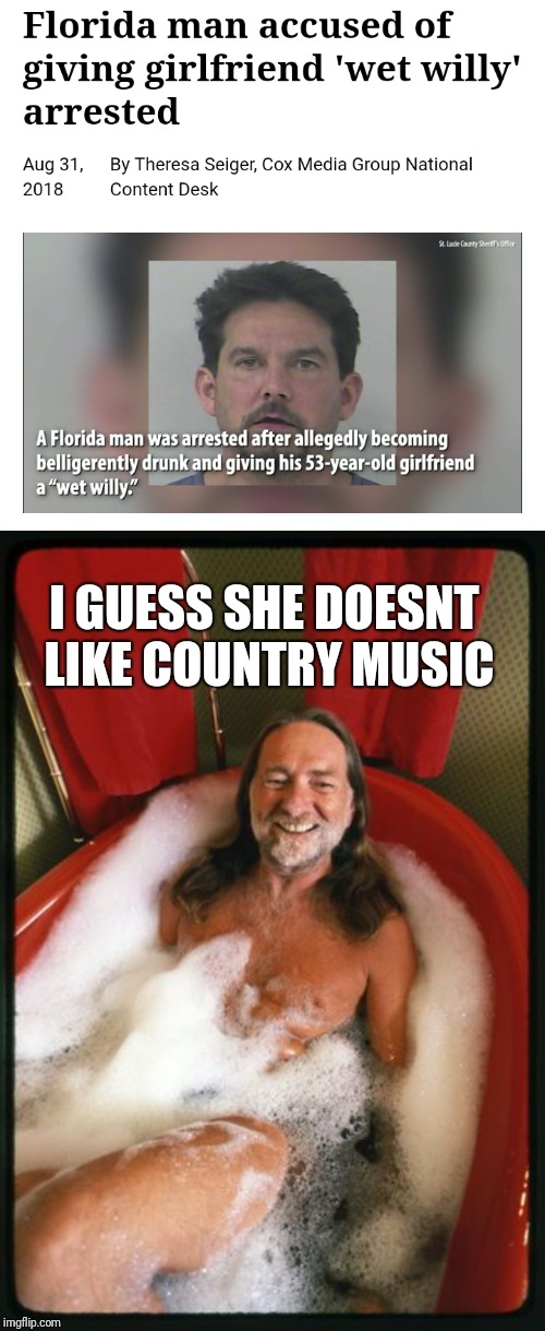 """Wet Willy"" Florida Man Week (March 3-10, a Claybourne and Triumph_9 event) 