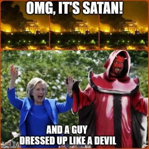 Satan | image tagged in hillary clinton,satan,lucifer,hell | made w/ Imgflip meme maker