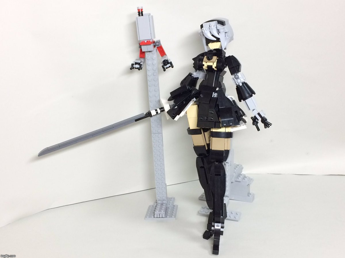 LEGO 2B | image tagged in square enix,2b,sword,lego,nier automata,android | made w/ Imgflip meme maker