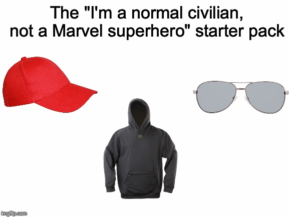 "If there's anything bad at all about Marvel movies, it's the heroes' ""disguises""! 